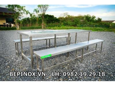 Bàn ghế ăn Inox