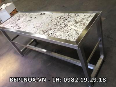 Ghế Inox mặt đá