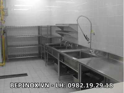 Bồn rửa bếp ăn công nghiệp