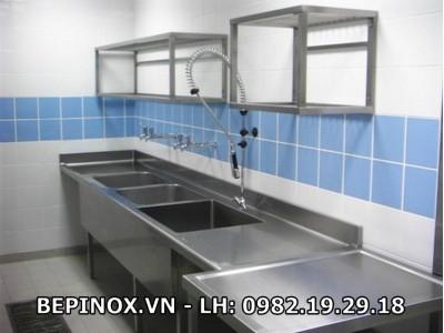 Chậu Inox 3 bồn rửa
