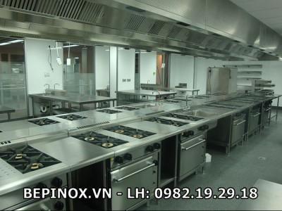 Dịch vụ thi công bếp công nghiệp nhà máy uy tín, chất lượng