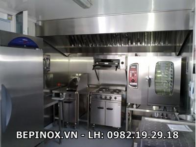 Sản xuất bếp công nghiệp inox