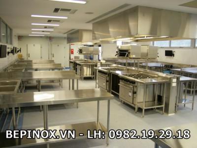 Thiết kế bếp inox công nghiệp