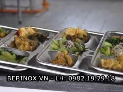 Khay ăn cơm Inox