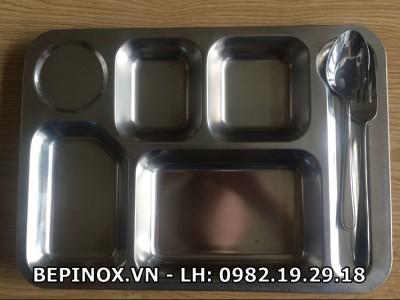 Khay ăn Inox 5 ngăn