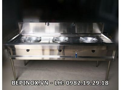 Bếp xào 3 bếp công nghiệp inox