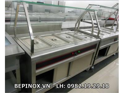 Quầy inox giữ nóng sản phẩm