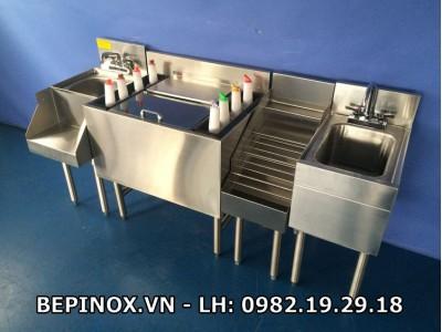 Hệ thống quầy bar inox khách sạn Mường Thanh