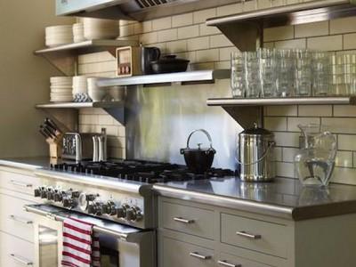 Mặt bàn bếp làm bằng Inox