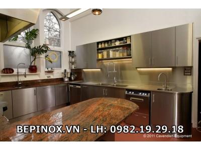 Tủ bếp Inox gia đình