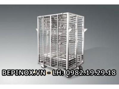 Xe chở khay ăn cơm 120&160 khay inox