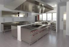 Vị trí nên đặt thiết bị bếp ăn công nghiệp trong nhà hàng
