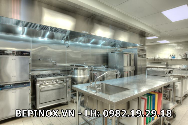 Thiết bị bếp công nghiệp inox tại Thiên Tân