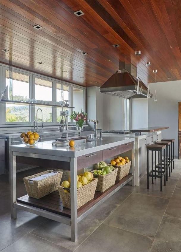 gian bếp công nghiệp thiết kế giản dị